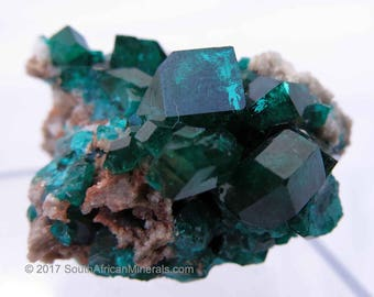 Large Dioptase On Matrix, Koakoveld, Namibia