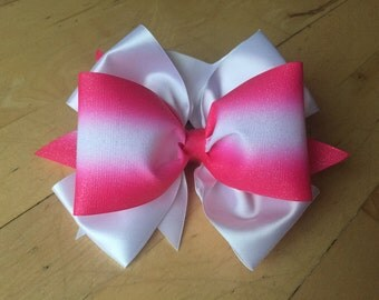 Shocking pink CHEER Bow