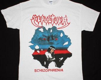 Sepultura Schizophrenia white t shirt