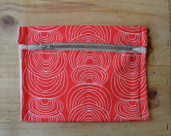 Red Patterned Purse