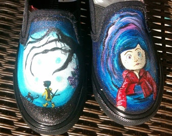 Coraline hand painted shoes