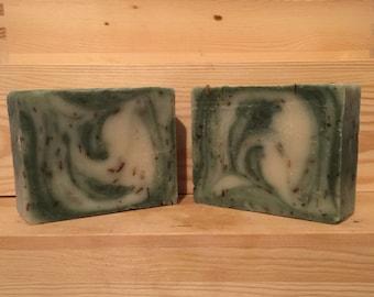 FREE SHIPPING -  Vulcan Handmade Soap - Cold Process Soap - Lavender Soap - Spearmint Soap