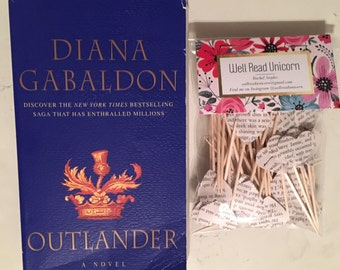 Outlander Diana Gabaldon Cupcake Toppers * party birthday shower cake classic book wedding bridal