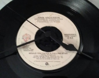 John Anderson 45 Record Clock - Would You Catch a Falling Star