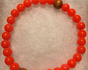 Bead Essential Oil Diffuser Bracelet with Wood Bead