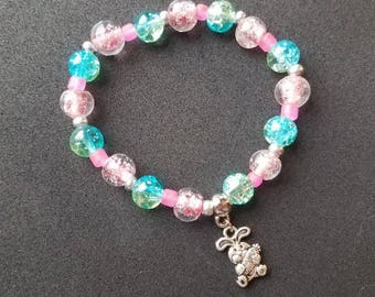 Multi-Color Easter Bunny Bracelet