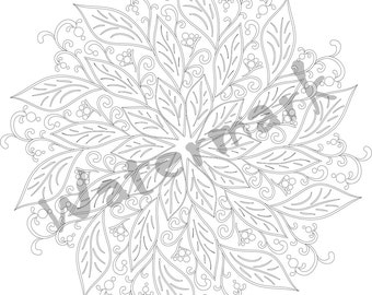 printable mandala coloring pages for adults digital stamps instant download art therapy drawing - Art Therapy Coloring Pages Mandala