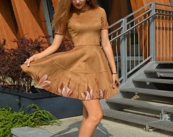 Short dress hand painted
