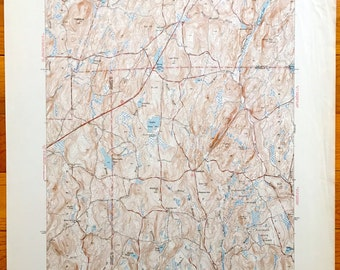 Antique Westford Connecticut 1945 Us Geological Survey Topographic Map Ashford Stafford Union