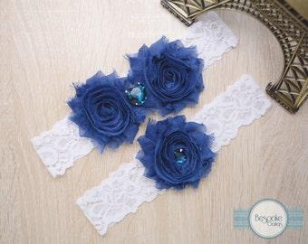 Something Blue, Navy Blue Garter, Blue Garter, Blue Wedding, Blue Garter Set, Something Blue Gift, Blue Bridal Garter, My Something Blue