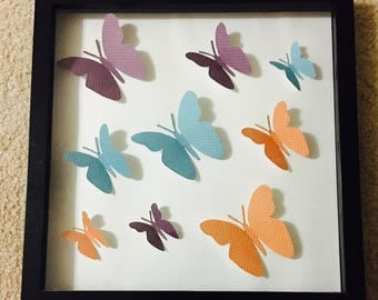 3D Butterflies Art