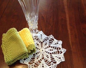 Handmade Dishtowel and Handmade Vintage Doily Housewarming Gift Set