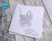 Grußkarte Glückwunschkarte Vintage Baby von Frollein KarLa