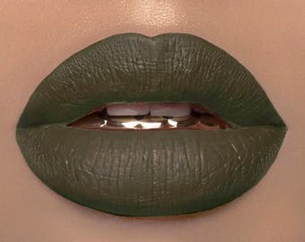 Filthy Rich Olive Green Liquid Lipstick