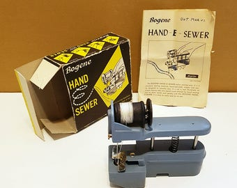 Vintage 1960s Bogene Hand-E-Sewer Handheld Sewing Machine