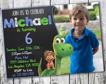 Good dinosaur Invitation, Good Dinosaur Birthday, The Good Dinosaur Birthday Party, The Good Dinosaur Birthday Party