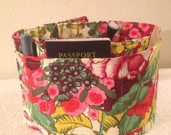 "Purse Organizer Insert / Magical Gardens Floral   29""  Long"