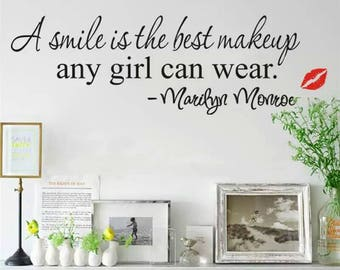 Marilyn Monroe Quote Wall Decal