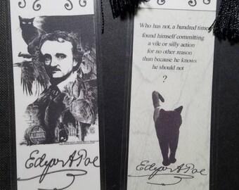 Edgar Allen Poe Black Cat bookmark
