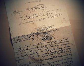 Leonardo da Vinci Aerial Screw Sketch