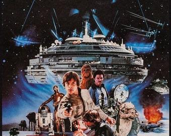 Vintage Japanese Star Wars Movie Poster  A3 Print