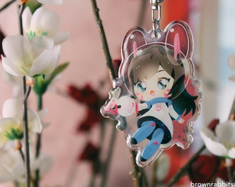 Cute Kawaii D.va Space Astronaut Overwatch keychain