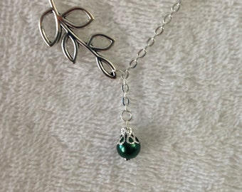 Branch lariat style necklace