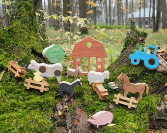 Animal Farm A Montessori Inspired Wooden Learning Toy