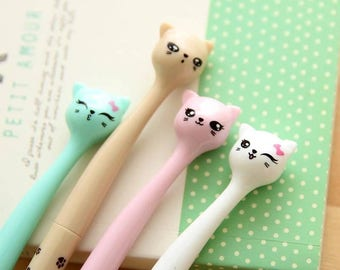 Cute Cat Face Gel Pen