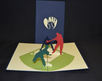 3-D Baseball Pop-Up Card