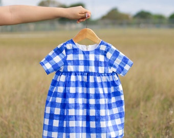 Sommer Gingham Dress //12 Months Ready to ship// FREE Shipping