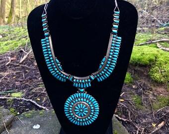 Beautiful Turquoise Petit Point Necklace