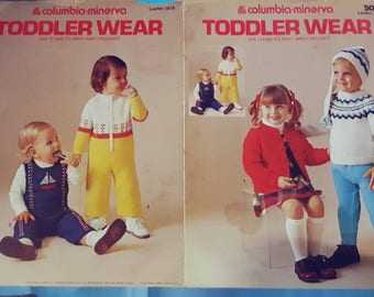 50 Cents! Columbia Minerva Toddler Wear Knitting Pattern Leaflet SALE!