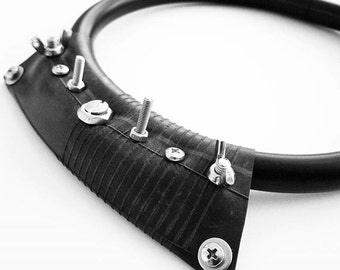 Apocalyptic necklace ,Industrial choker ,black statement necklace,urban style necklace,Alternative jewelry necklaces,street fashion necklace