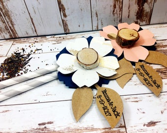 Personalized Wildflower Seed Favor - Rustic Wedding Favors - Flower Seed Favors