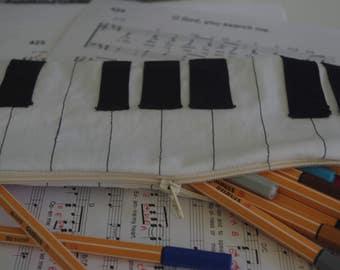 Piano pencil case