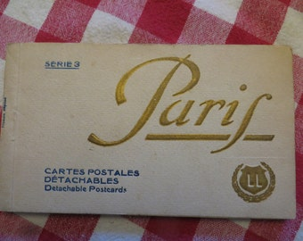 Antique Serie 3 paris cartes postales detachables detachable postcards LL  w/free ship