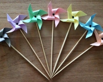 Touilleurs cocktail collection Pastel wind mill for an aperitif with Style!
