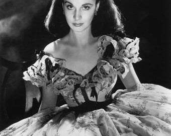 Vivien Leigh Gone With The Wind Black and White Photo Print