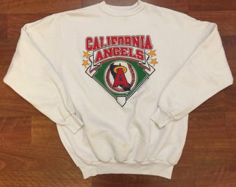 Vintage 1988 California Angels Crewneck Sweatshirt Size XL