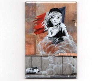 Banksy - Les Misérables Magnet