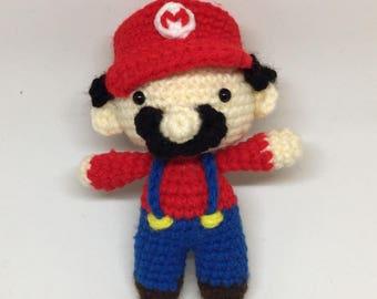 Amigurumi Chibi Super Mario Plush - Mario