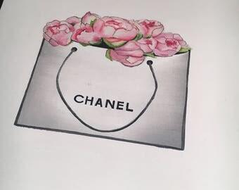 Chanel shopping bag | Etsy