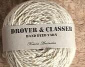Hand Dyed 5ply organic NZ merino 160m/ 50g 'Irish Linen'