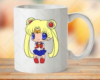Sailor Moon mug, Sailor Moon cup, anime gift, cartoon mug, manga mugs, Sailormoon mugs, anime gift mug, cute chibi mug, kawaii cup gift