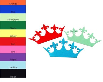 25 pack - Paper Crowns, Paper Crown Cut Out, Crown Die Cut, Party Supplies, Die Cut Shapes