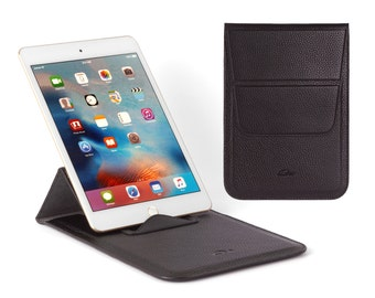 "Leather Pouch Samsung Galaxy Tab S2 8.0"" - Samsung Galaxy Leather Sleeve - Samsung Galaxy Tab S2 Cover - Stand - Grained Leather"