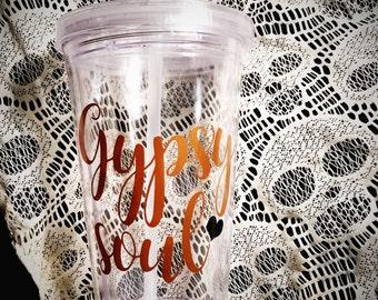 Gypsy Soul, 16oz Acrylic Tumbler