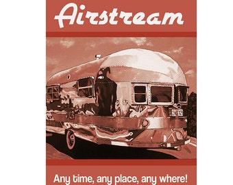Items Similar To Photograph Retro Vacation 12x12 Airstream