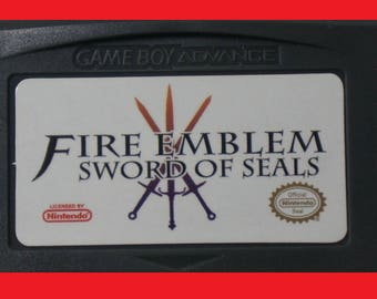 Fire Emblem Sword of Seals (aka Binding Blade)- English - Gameboy Advance GBA & DS Lite - English Fan Translation - Great Quality!